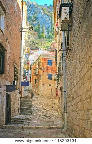 Kotor, Montenegro, January, 6, 2016: The image of Kotor, Montenegro