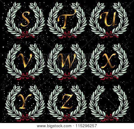 Alphabet Wreath Letters