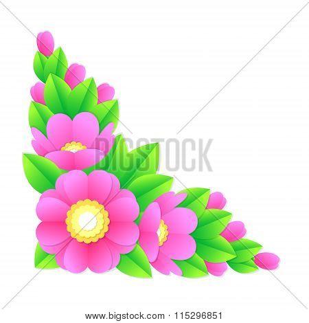 flower corner, vector