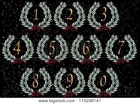 Number Wreath Letters