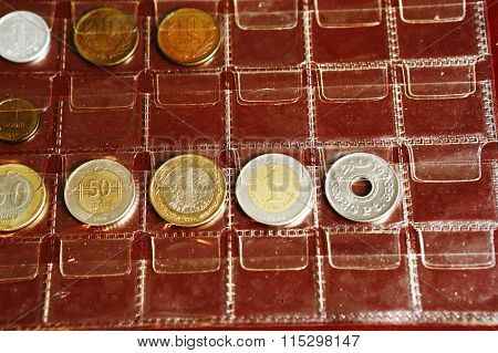 Coin Album Collection From Different Countries