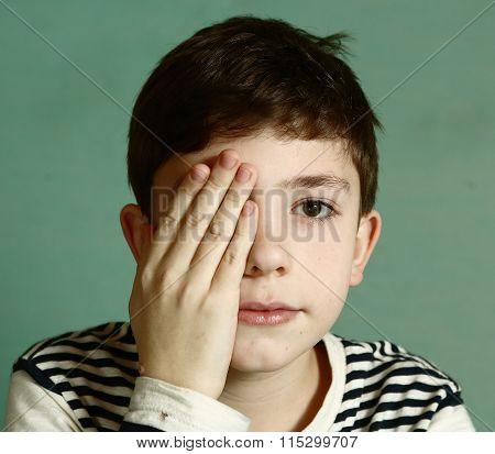 Boy Under Ophthalmologist Examination