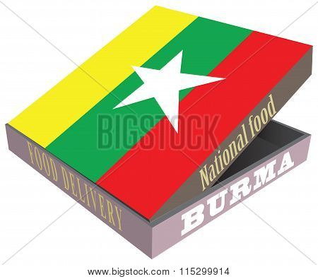 Symbolic Box For Delivery Of Food Burma