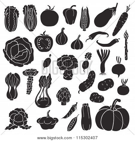 Icons of vegetables