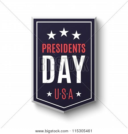 Presidents day banner.