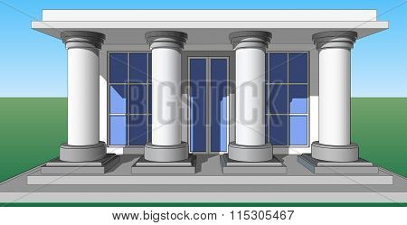 Entrance Porch Columns