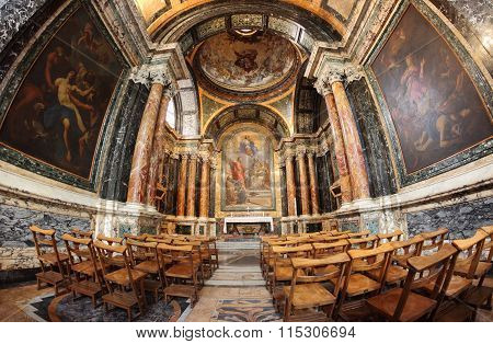 The Cybo Chapel In The Basilica Of Santa Maria Del Popolo In Rome