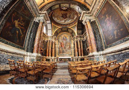 The Cybo Chapel In The Basilica Of Santa Maria Del Popolo In Rome