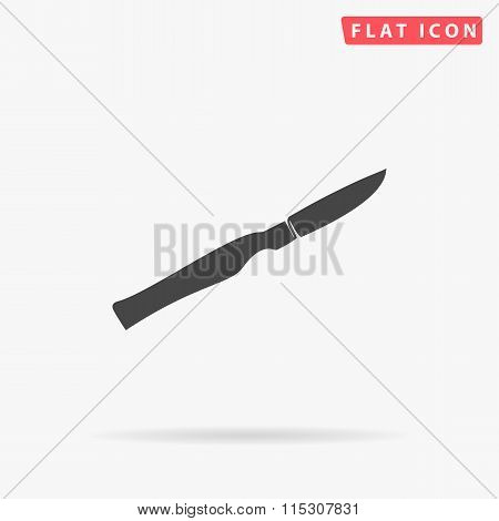 scalpel simple flat icon