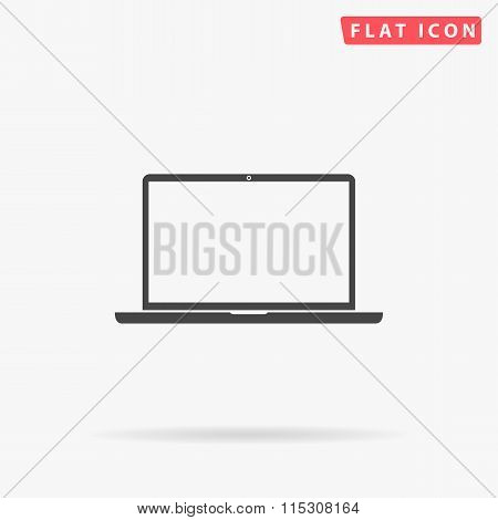 Laptop simple flat icon