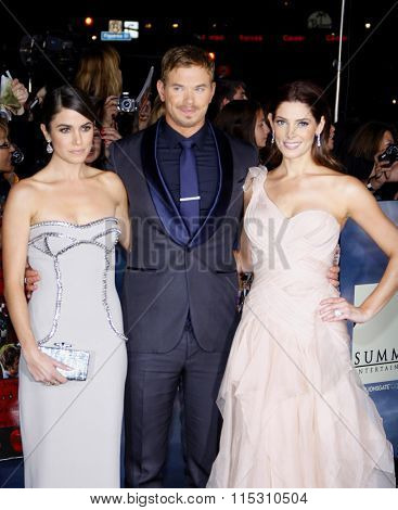 Nikki Reed, Kellan Lutz and Ashley Greene at the Los Angeles Premiere of