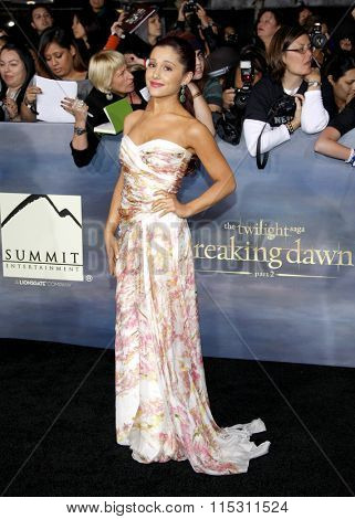 Ariana Grande at the Los Angeles Premiere of