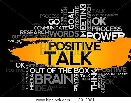 Positive Talk. Word Business Collage