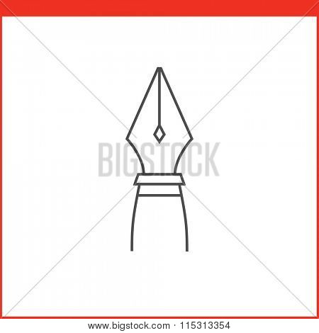 Pen tool icon. Vector graphics designer tool. Simple outlined vector icon in linear style