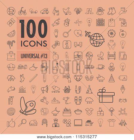 Universal icons set 6