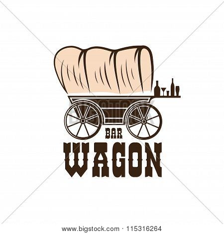 Wagon Western Bar Concept Vector Design Template