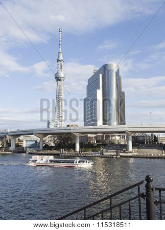 Urban Cityscape In Tokyo