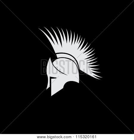 Old Vintage Antiques Spartan Warrior Vector Design Template