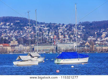Lake Zurich In Winter