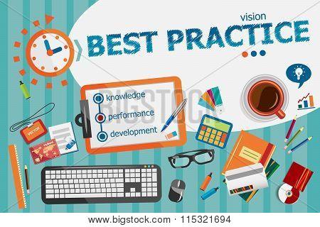 Best Practice Concept. Typographic Poster.