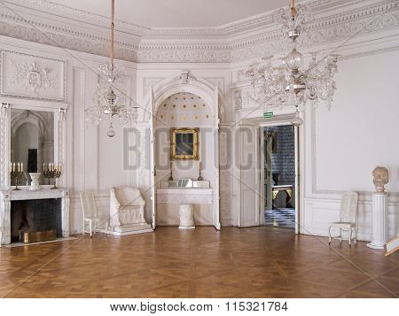 The interiors of the Radziwill palace in Nieborow, Poland
