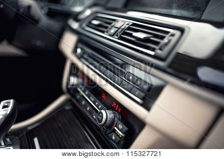 Car Ventilation System And Air Conditioning - Details And Controls Of Modern Car. Concept Wallpaper