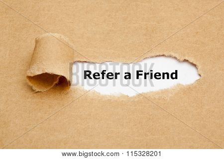 Refer A Friend Torn Paper
