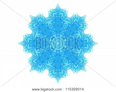 Abstract Blue Concentric Pattern Shape