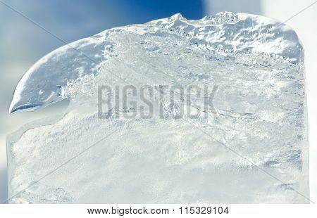 Glacial Block Of Ice Closeup.