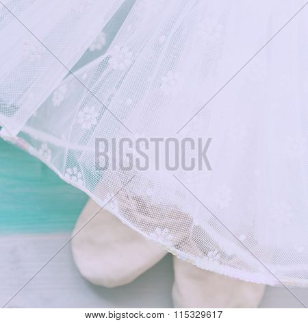 Tutu skirt with ballet shoes