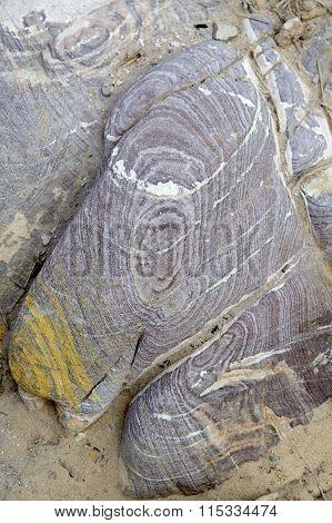 Color Sandstone Rocks In Jordan Desert.