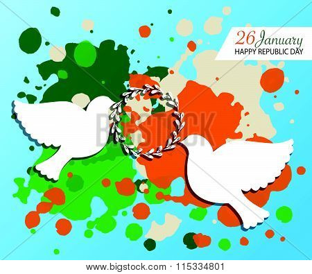 Happy Republic Day (india) Templates For Postcard, Invitation Card, Print.