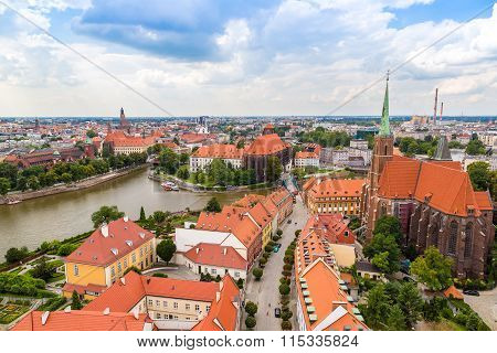 Aerial View Of Wroclaw