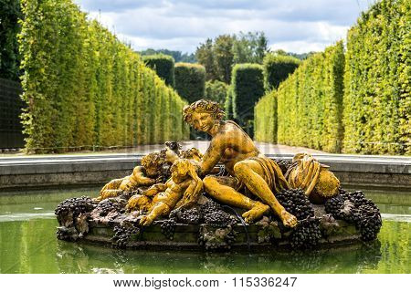 Fountain In The Gardens Of The Versailles Palace