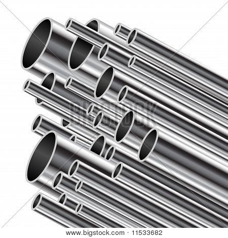 Metal tube.