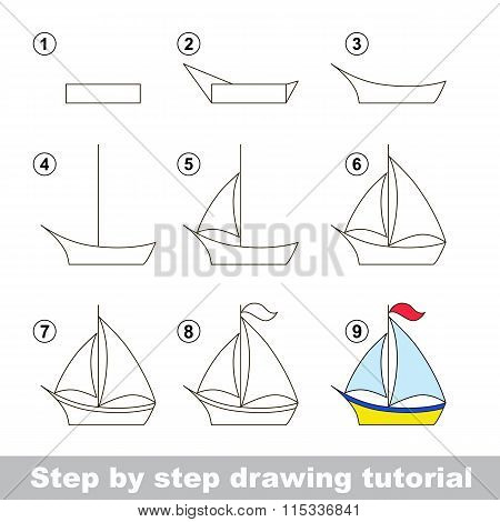 Drawing tutorial. How to draw a Boat