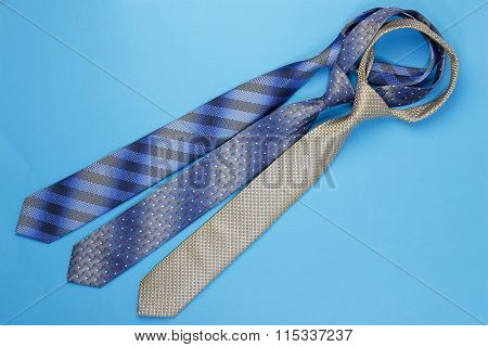 Group of colorful neckties