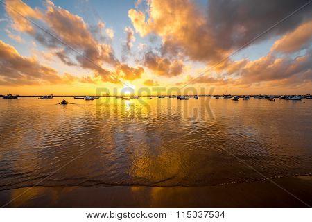 Sunrise on Teresitas beach