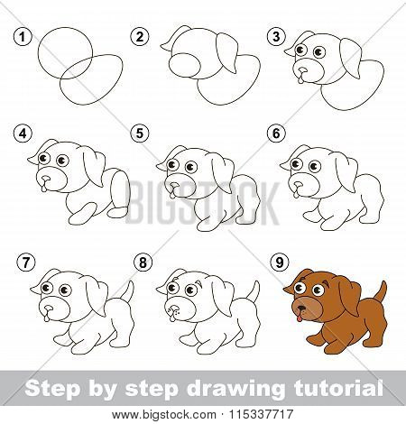 Drawing tutorial. How to draw a Little puppy