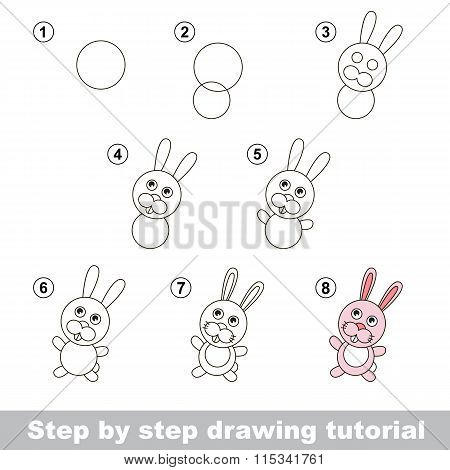 Drawing tutorial. How to draw a Little Rabbit