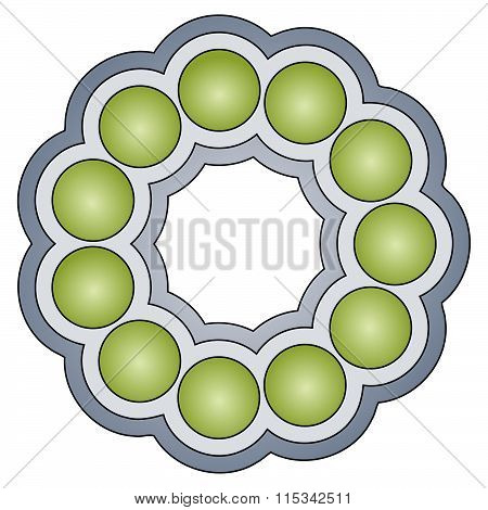 Abstract Rounded Ornament Ball-bearing
