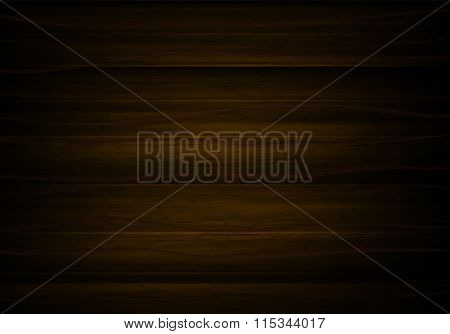 Wood Horizontal Background In Vector. Brown Background With Text