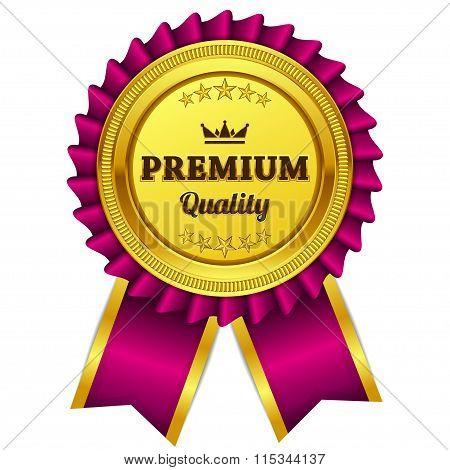 Premium Quality Pink Seal Vector Icon