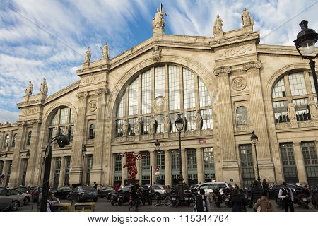 The Gare Du Nord, Paris, France.