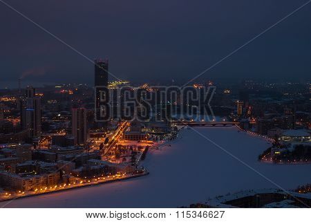 Night cityscape from a height