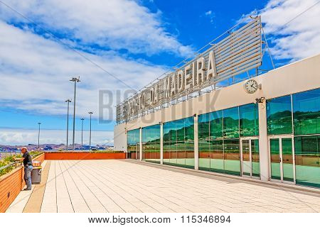 Madeira Airport With Lettering, Exterior View