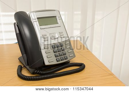 Telephone On Table Work Of Room Service Business Office