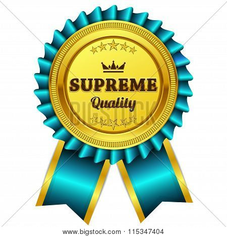 Supreme Quality Blue Seal Vector Icon