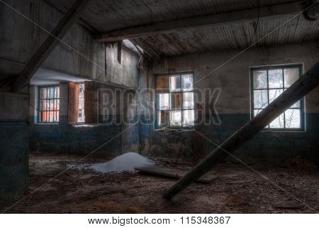 Workshop of abandoned factory