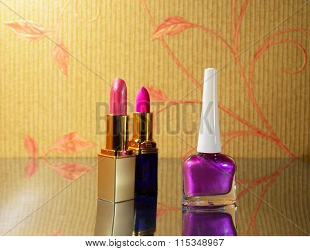 Nail Polish And Lipstick